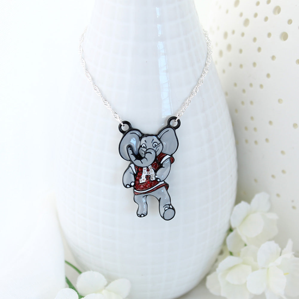 "Alabama ""Big Al"" Crystal Logo Necklace"