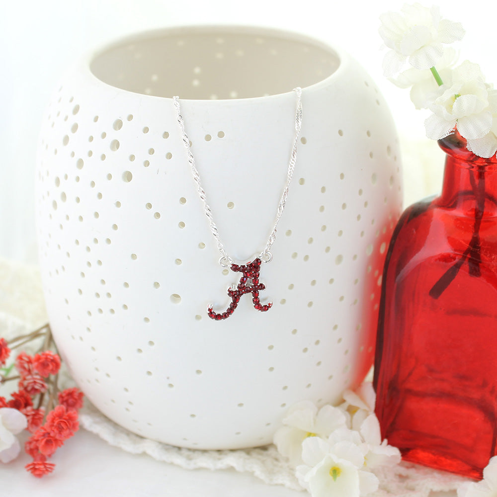 Alabama Crystal Logo Necklace