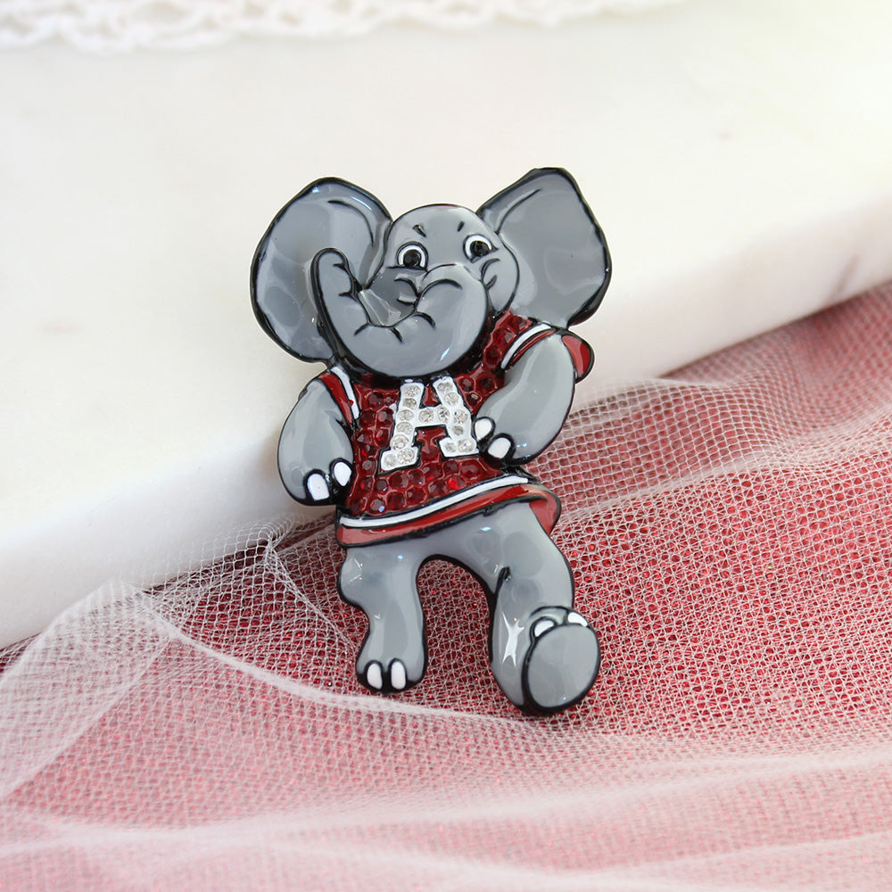 "Alabama ""Big Al"" Crystal Logo Pin"