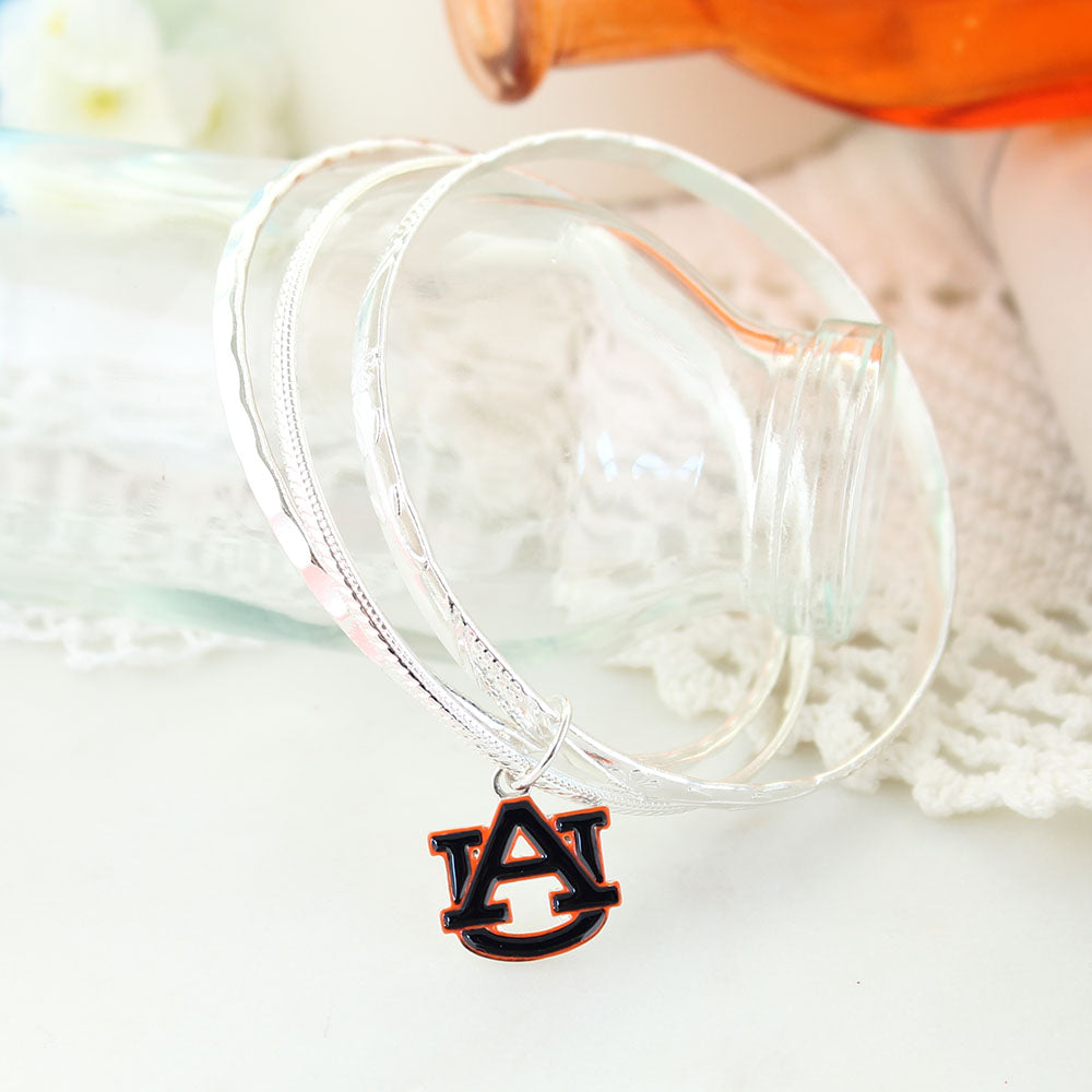 Auburn Logo Bangle Bracelets