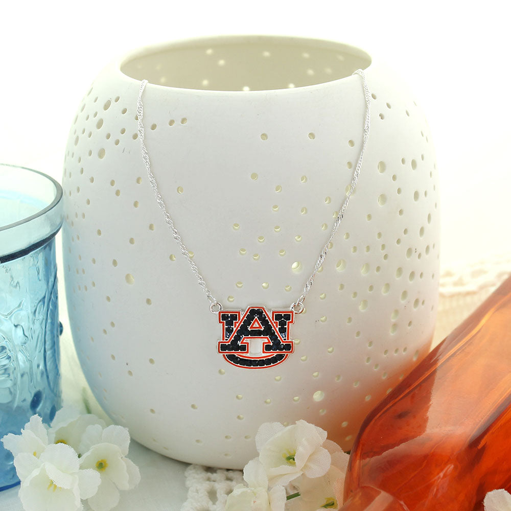 Auburn Crystal Logo Necklace