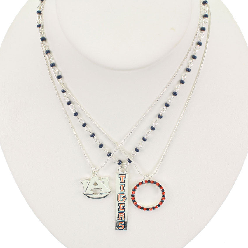 Seasons Jewelry Auburn Trio Necklace