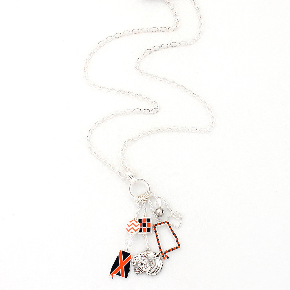 Auburn Traditions Cluster Necklace