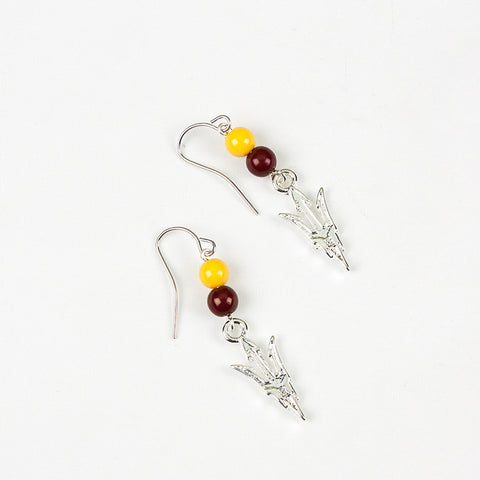 Arizona State Logo Hook Earrings