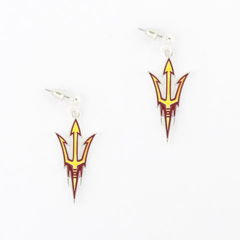 Arizona State Enamel Logo Earrings