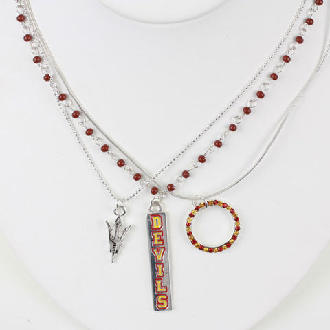 Seasons Jewelry Arizona State Trio Necklace Set