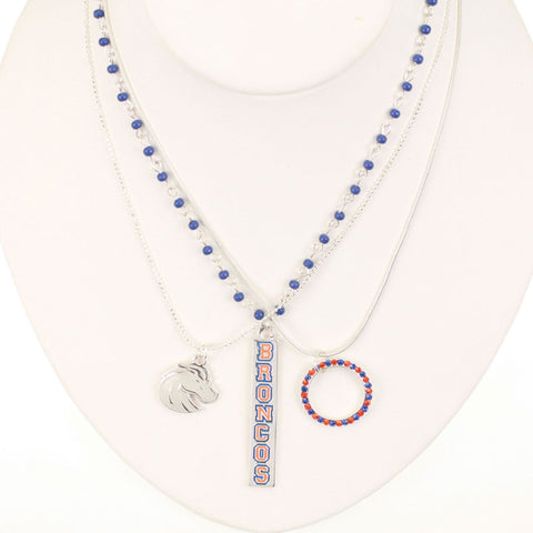 Seasons Jewelry Boise State Trio Necklace
