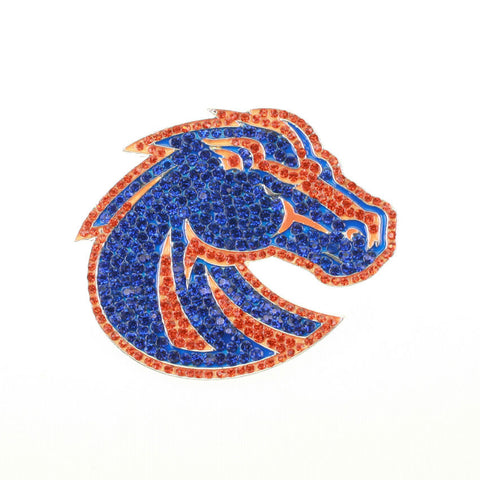 Seasons Jewelry Boise State Crystal Logo Pin