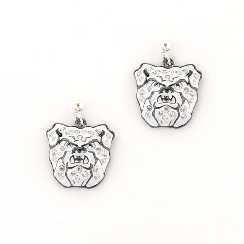 Butler Crystal Logo Earrings
