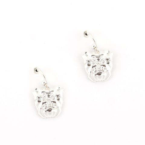 Butler Logo Hoop Earrings