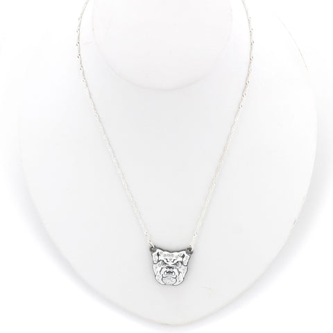 Butler Crystal Logo Necklace