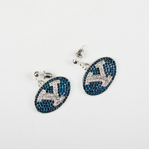 BYU Crystal Logo Earrings