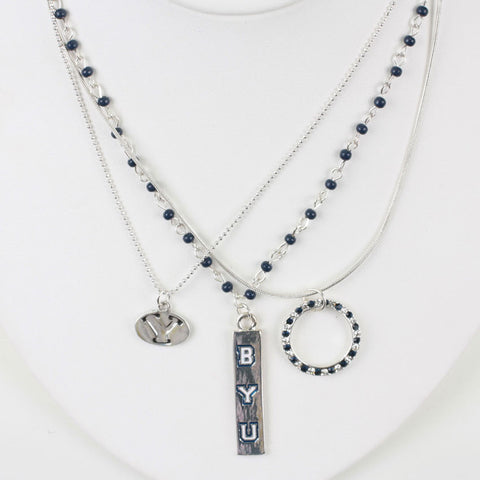 Seasons Jewelry BYU Trio Necklace