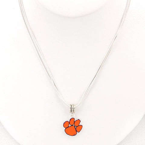 Clemson Enamel Logo Necklace