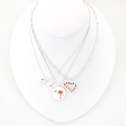 Clemson Traditions Trio Necklace