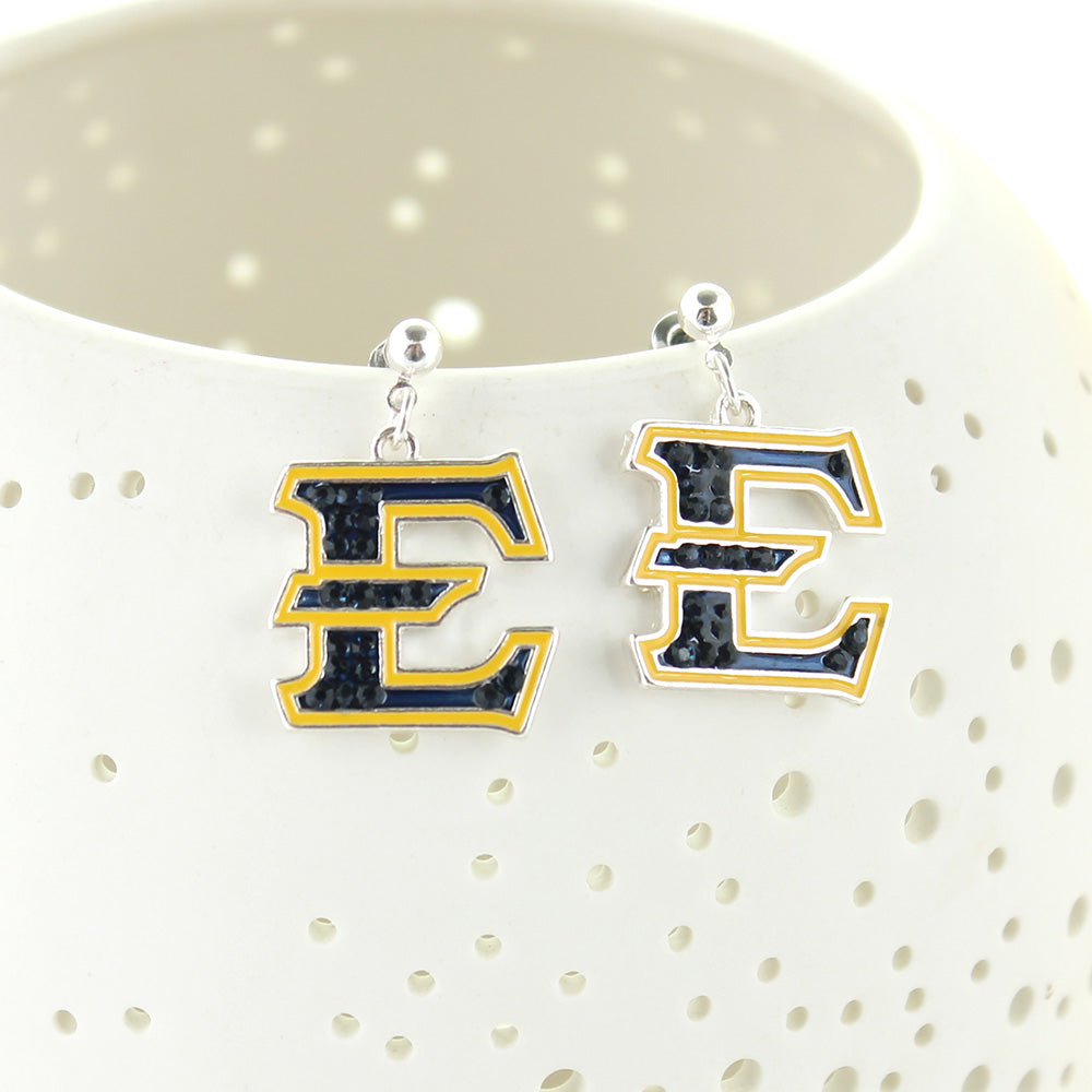 ETSU Crystal Logo Earrings