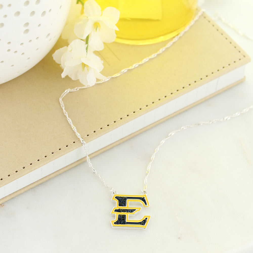 ETSU Crystal Logo Necklace