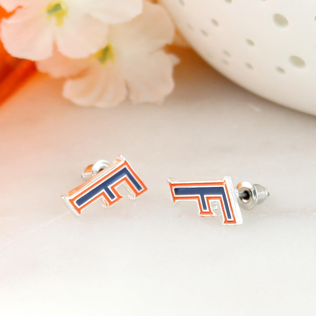 Florida Enamel Logo Stud Earrings