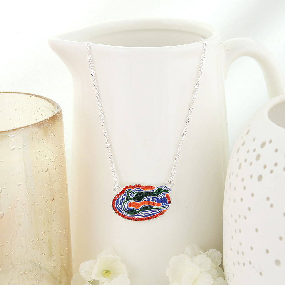 Florida Crystal Logo Necklace