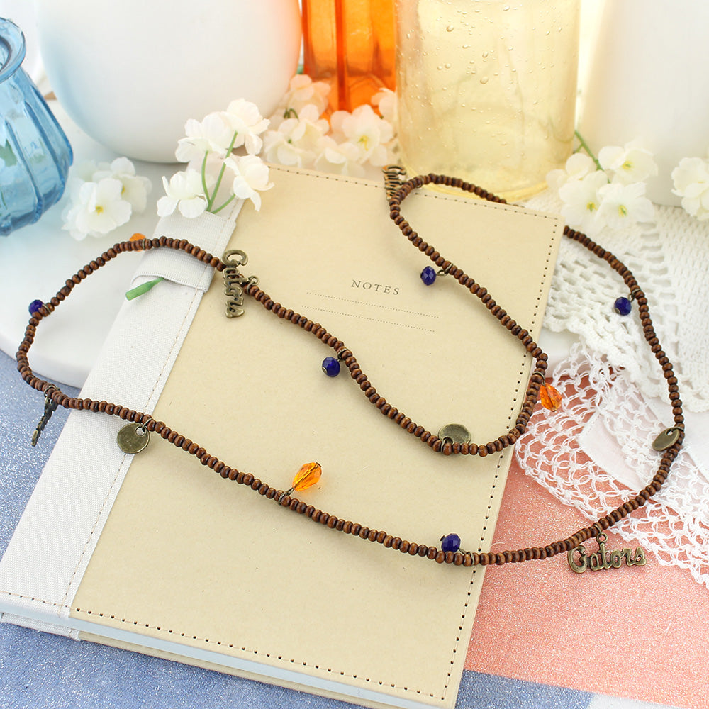Florida Wood Bead Stretch Necklace/Bracelet