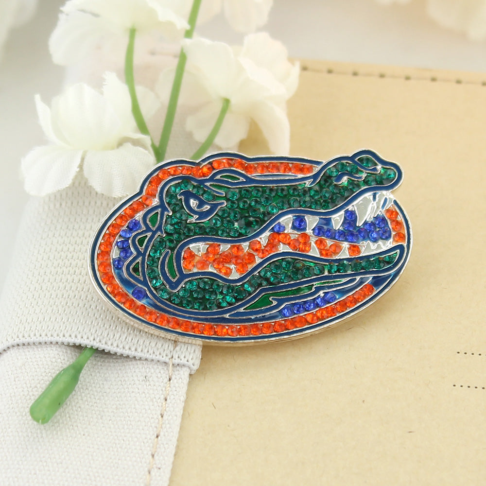 Florida Crystal Logo Pin