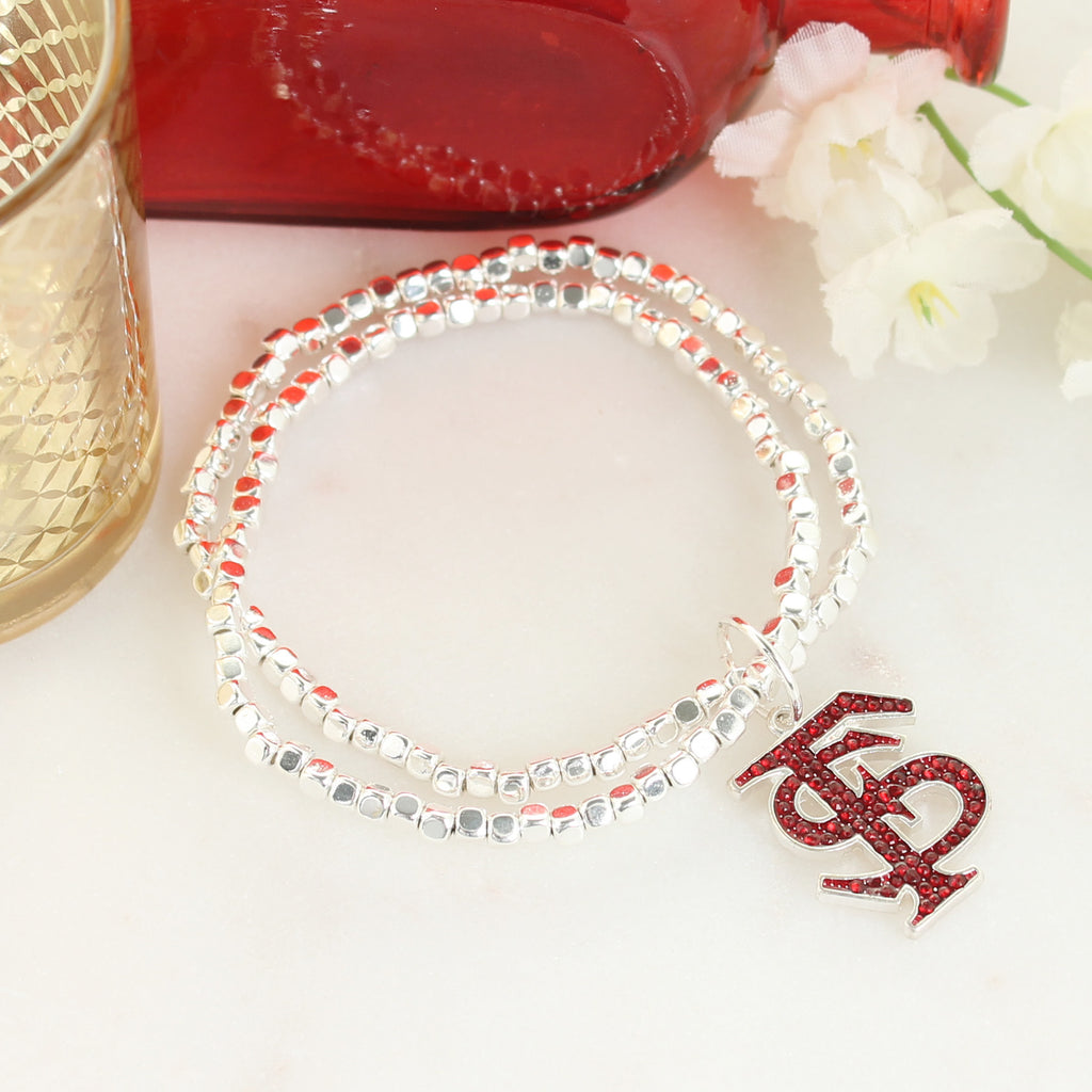 Florida State Crystal Logo Stretch Bracelet