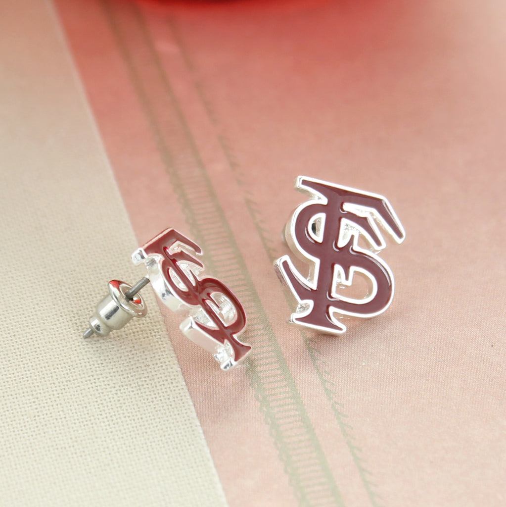 Florida State Enamel Logo Stud Earrings
