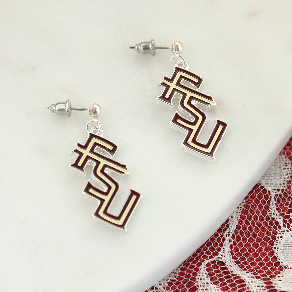 Florida State Logo Enamel Earrings