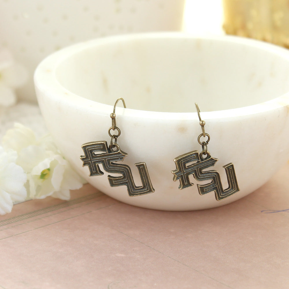 Florida State Vintage Style Logo Earrings
