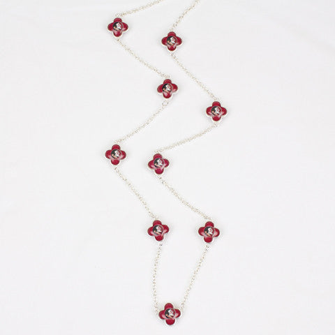 Seasons Jewelry Florida State Quatrefoil Necklace