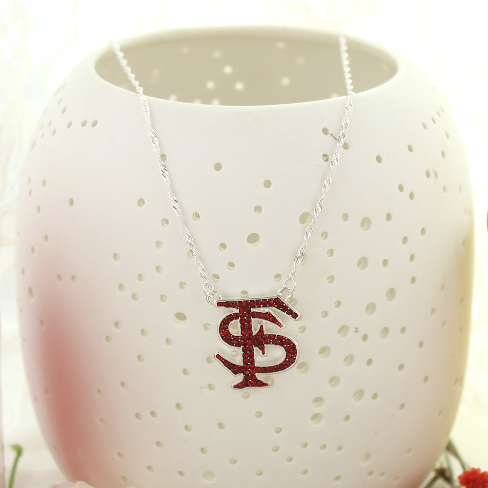 Florida State Crystal Logo Necklace