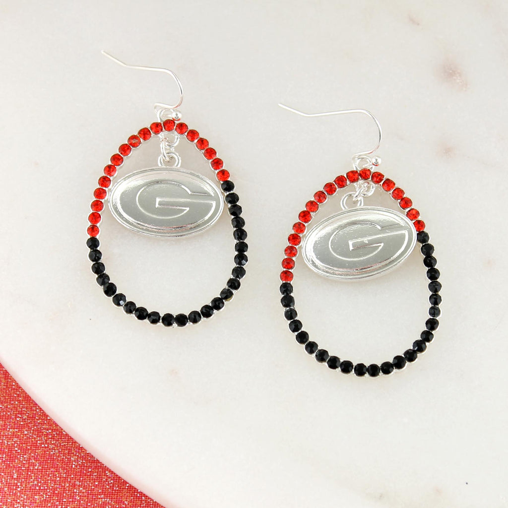 Georgia Crystal Logo Earrings