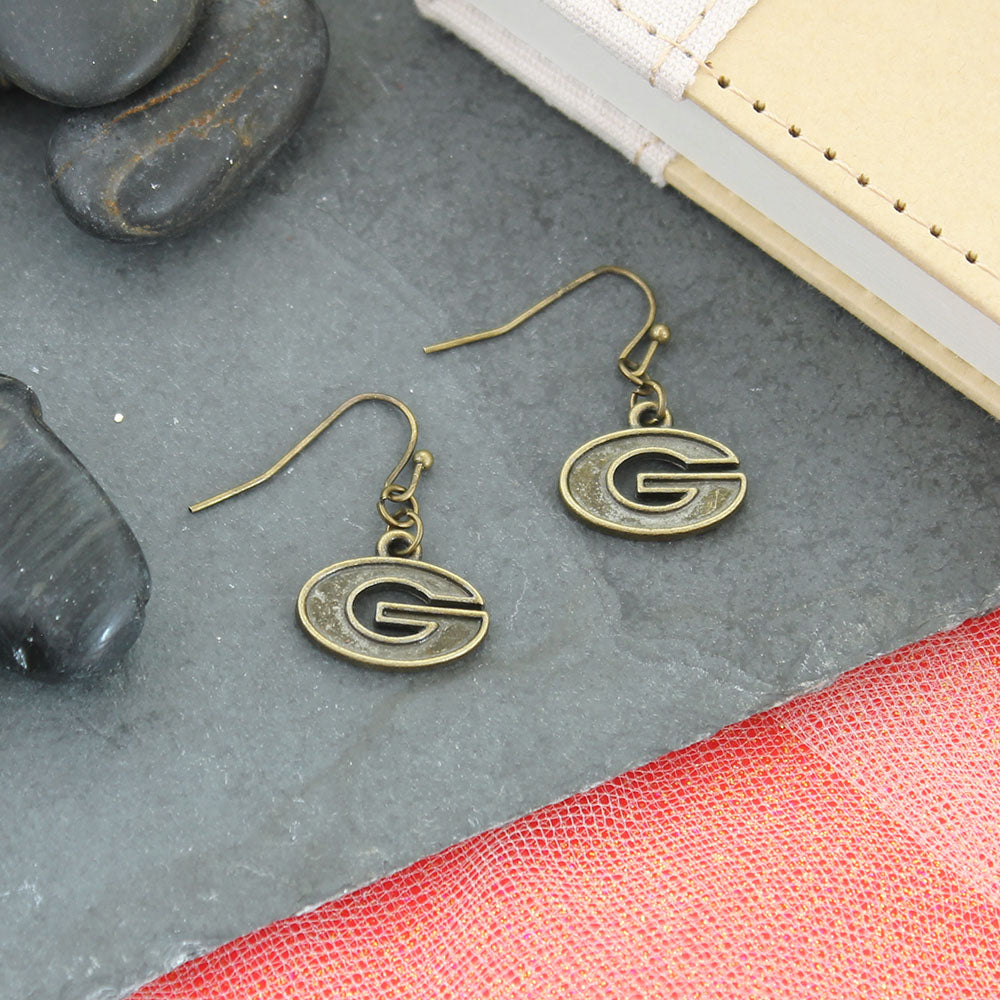 Georgia Vintage Style Logo Earrings