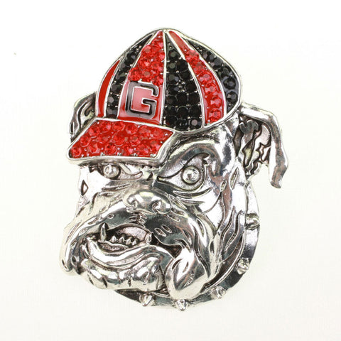 Seasons Jewelry Georgia Bulldog Crystal Pin