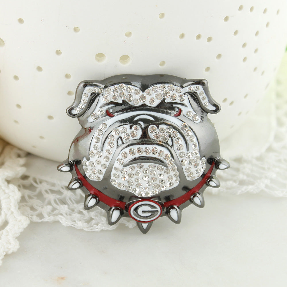 Georgia Bulldogs Crystal Logo Pin
