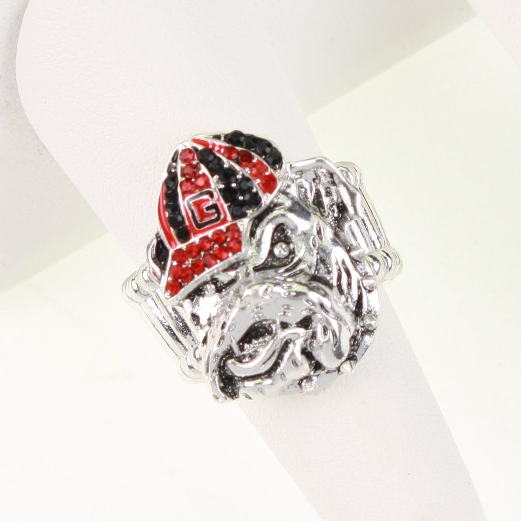 Seasons Jewelry Georgia Bulldog Logo Stretch Ring