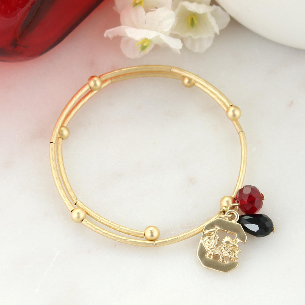 South Carolina Matte Gold Logo Bracelet