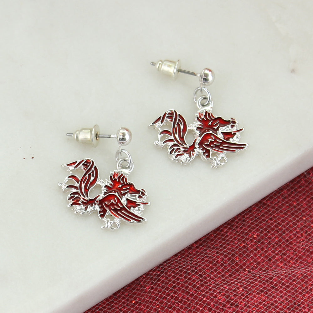 South Carolina Enamel Logo Earrings