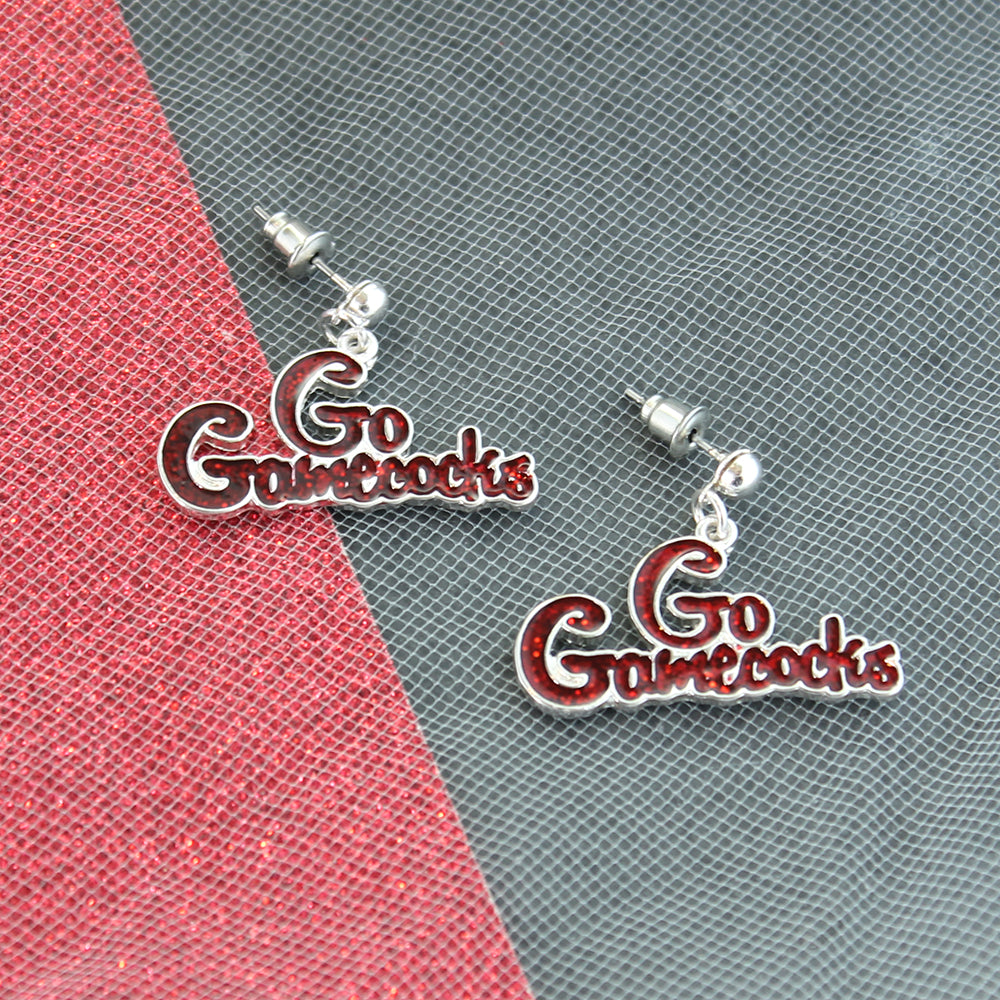South Carolina Slogan Earrings