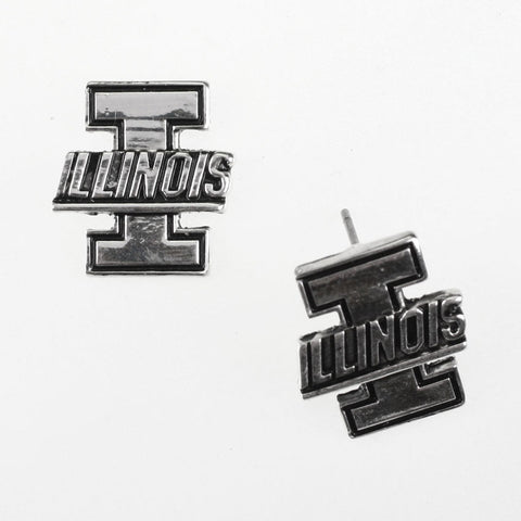 Seasons Jewelry Illinois Logo Stud Earrings