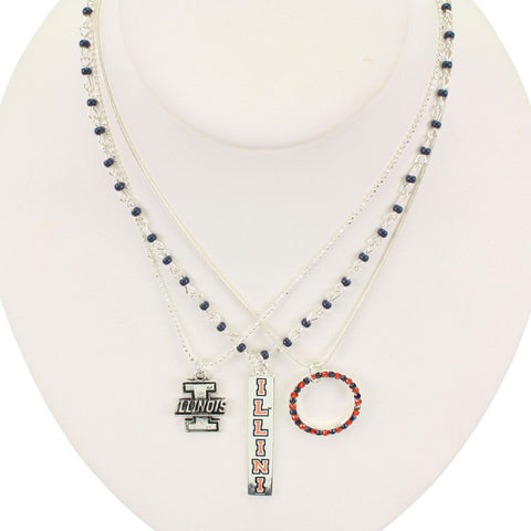 Seasons Jewelry Illinois Trio Necklace