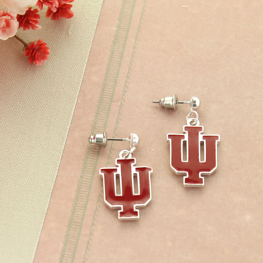 Indiana Enamel Logo Earrings