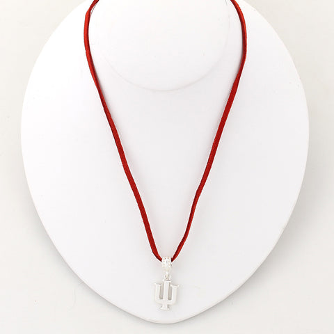Indiana Logo Single Suede Cord Necklace
