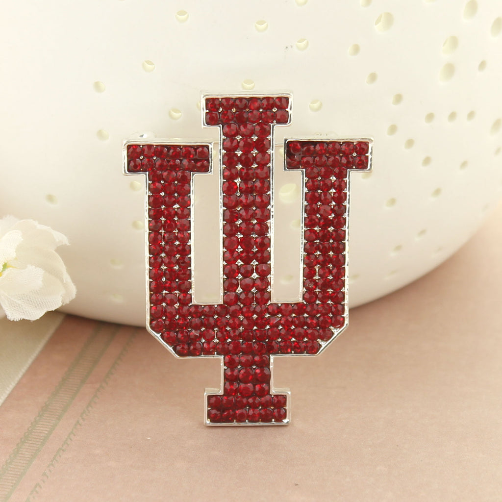 Indiana Crystal Logo Pin