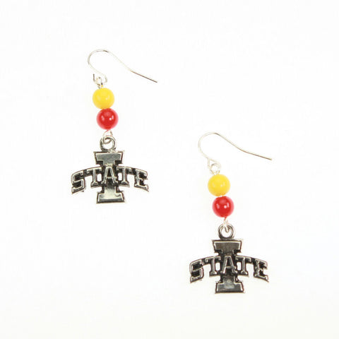 Seasons Jewelry Iowa State Logo Earrings