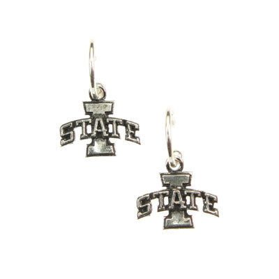 Seasons Jewelry Iowa State Wire Logo Earrings