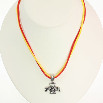 Seasons Jewelry Iowa State 16 inch Double Cord Logo Necklace