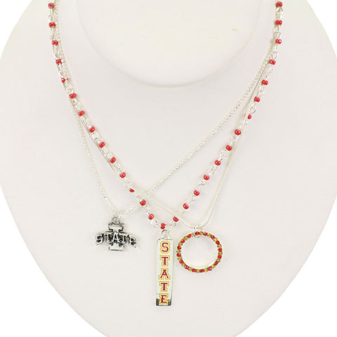 Seasons Jewelry Iowa State Trio Necklace
