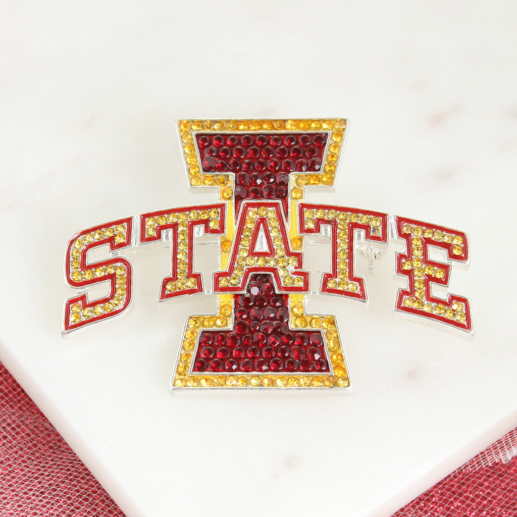 Iowa State Crystal Pin