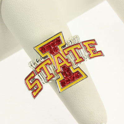 Seasons Jewelry Iowa State Crystal Stretch Ring